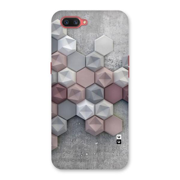 Cute Hexagonal Pattern Back Case for Oppo A3s