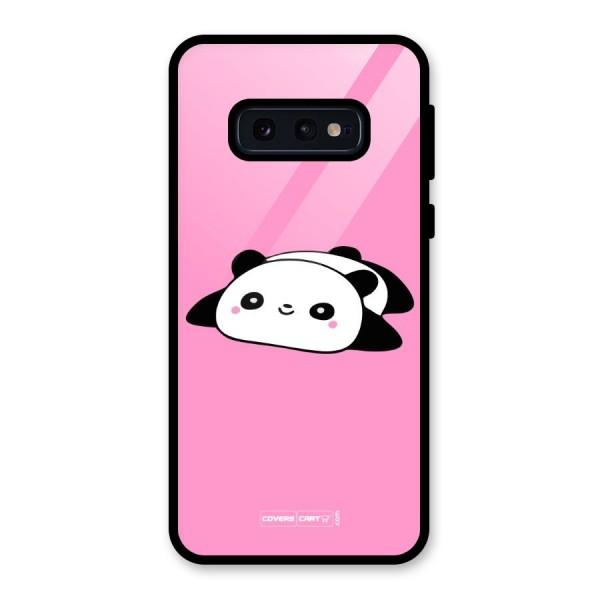 Cute Lazy Panda Glass Back Case for Galaxy S10e