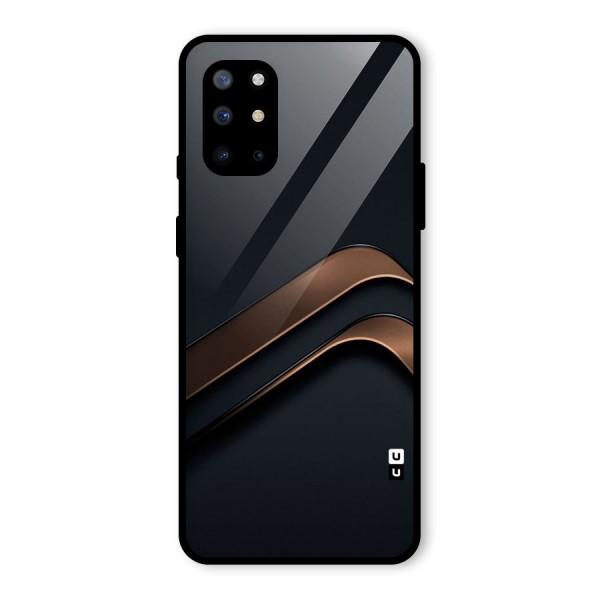 Dark Gold Stripes Glass Back Case for OnePlus 8T