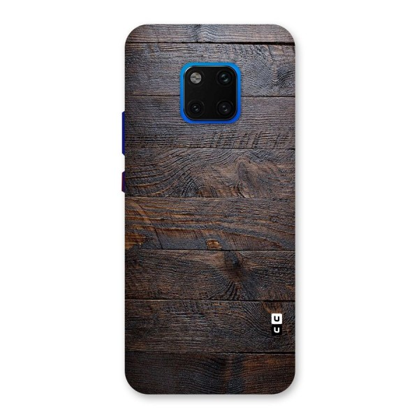 Dark Wood Printed Back Case for Huawei Mate 20 Pro