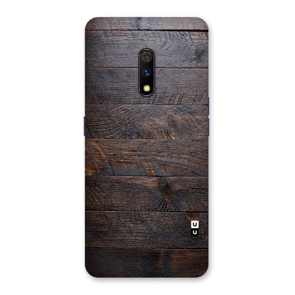 Dark Wood Printed Back Case for Realme X