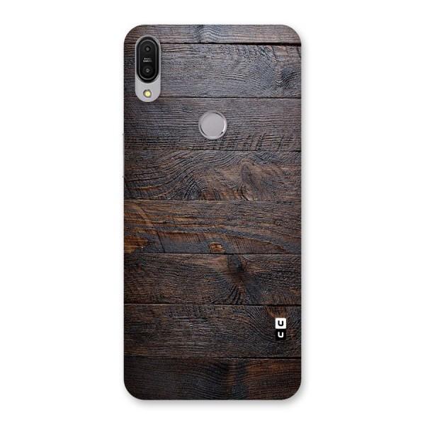 Dark Wood Printed Back Case for Zenfone Max Pro M1
