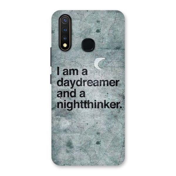 Day Dreamer Night Thinker Back Case for Vivo U20