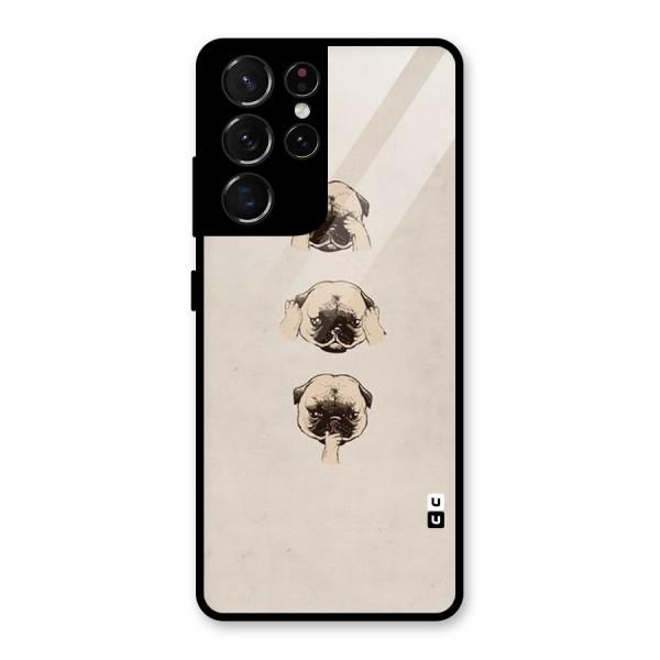Doggo Moods Glass Back Case for Galaxy S21 Ultra 5G