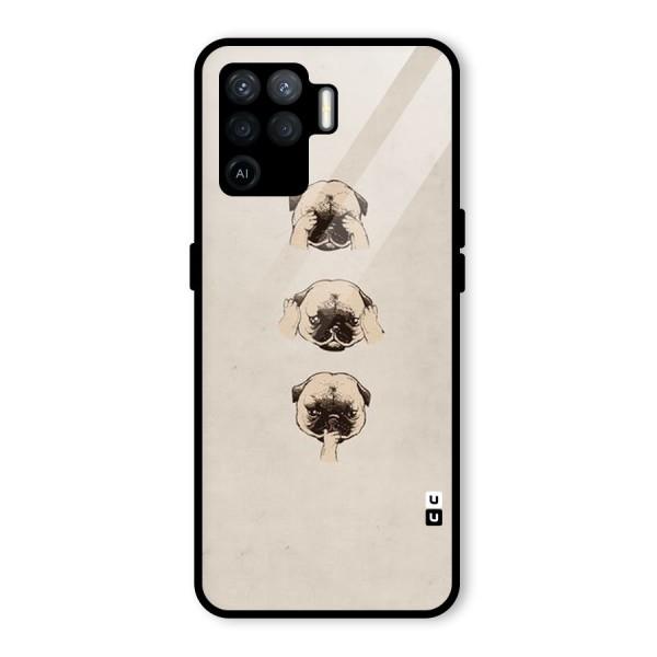 Doggo Moods Glass Back Case for Oppo F19 Pro