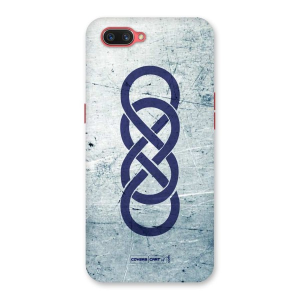 Double Infinity Rough Back Case for Oppo A3s