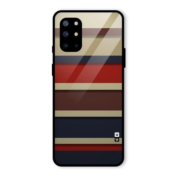 Elegant Stripes Pattern Glass Back Case for OnePlus 8T