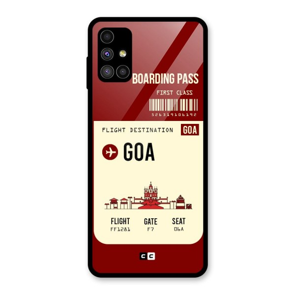 Goa Boarding Pass Glass Back Case for Galaxy M51