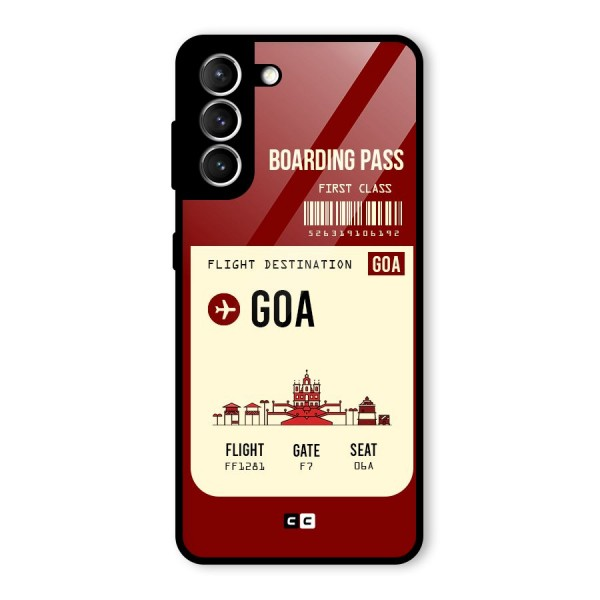Goa Boarding Pass Glass Back Case for Galaxy S21 5G