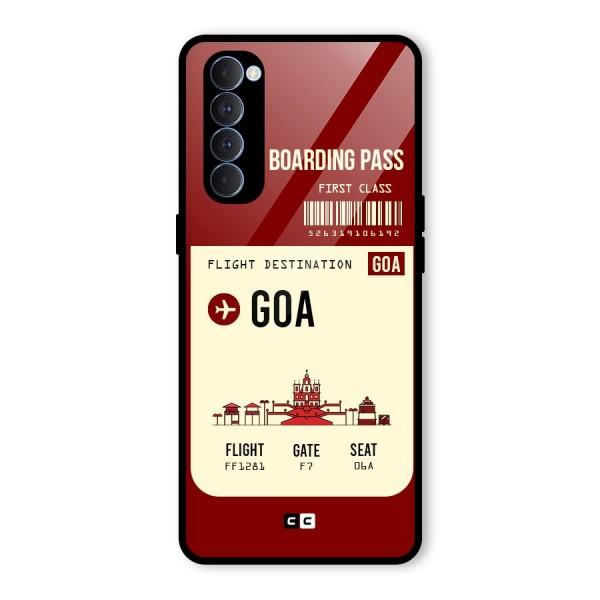 Goa Boarding Pass Glass Back Case for Oppo Reno4 Pro