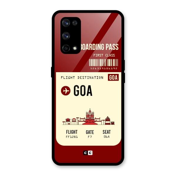 Goa Boarding Pass Glass Back Case for Realme X7 Pro