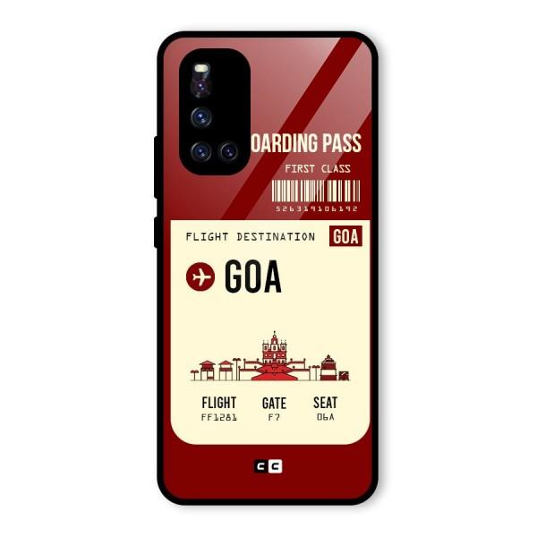 Goa Boarding Pass Glass Back Case for Vivo V19