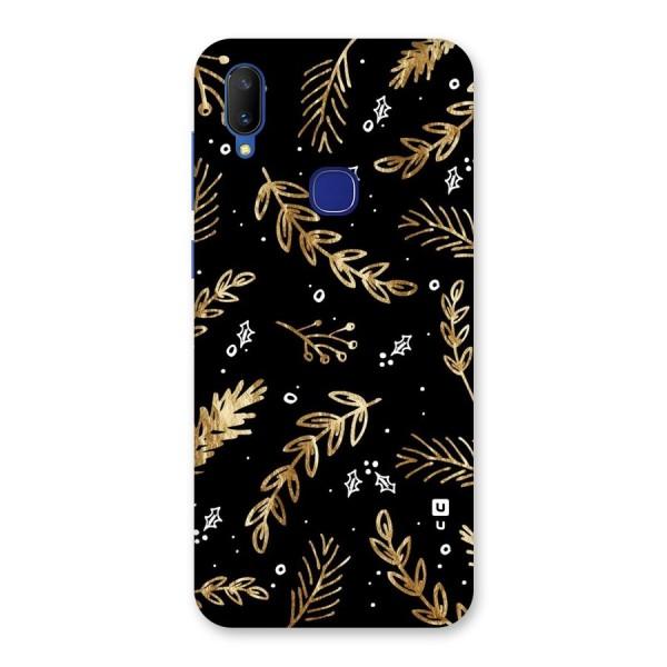 Gold Palm Leaves Back Case for Vivo V11