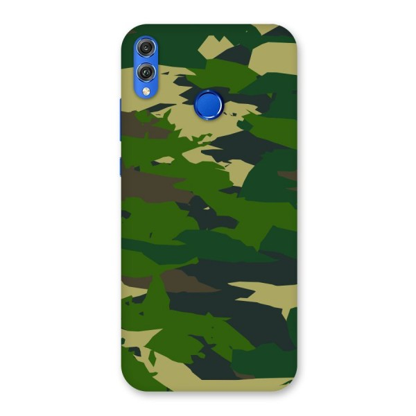 Green Camouflage Army Back Case for Honor 8X