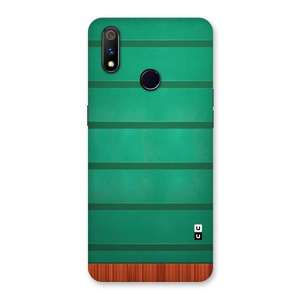 Green Wood Stripes Back Case for Realme 3 Pro