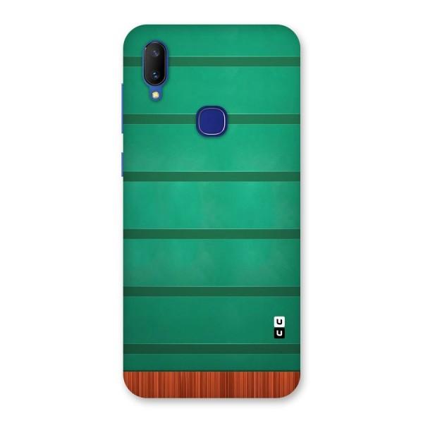 Green Wood Stripes Back Case for Vivo V11
