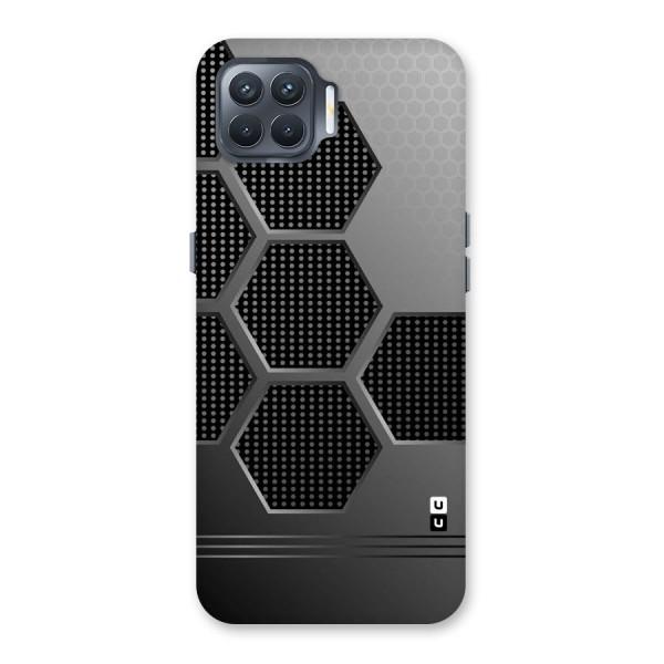 Grey Black Hexa Back Case for Oppo F17 Pro