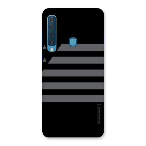 Grey Star Striped Pattern Back Case for Galaxy A9 (2018)
