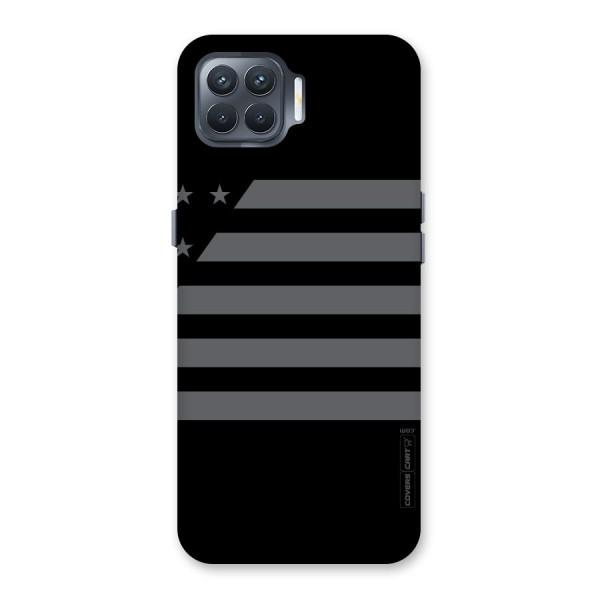 Grey Star Striped Pattern Back Case for Oppo F17 Pro