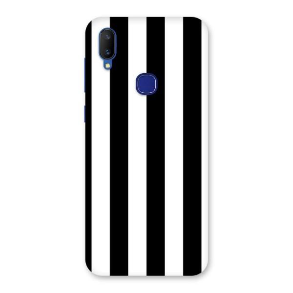 Lavish Black Stripes Back Case for Vivo V11