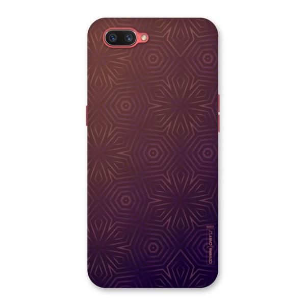 Lavish Purple Pattern Back Case for Oppo A3s