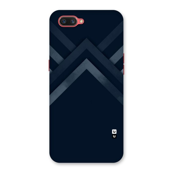 Navy Blue Arrow Back Case for Oppo A3s
