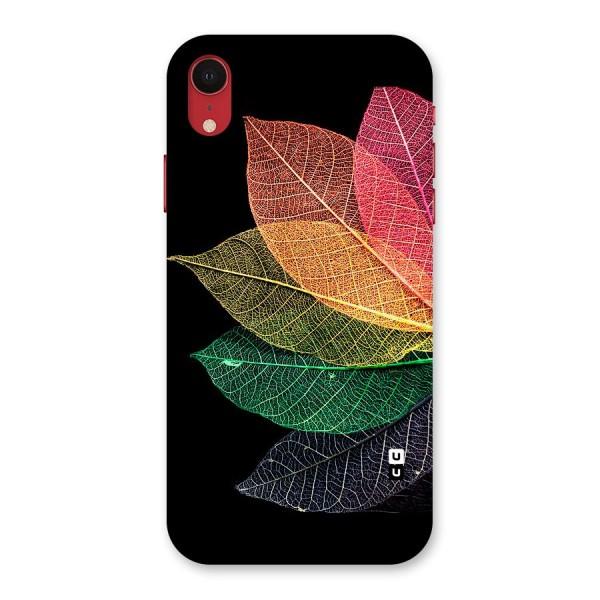Net Leaf Color Design Back Case for iPhone XR