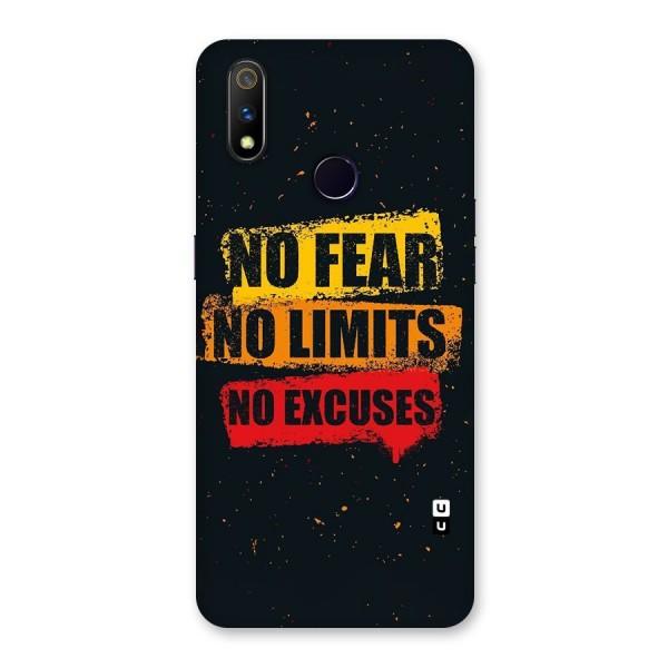 No Fear No Limits Back Case for Realme 3 Pro