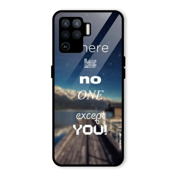 No One But You Glass Back Case for Oppo F19 Pro