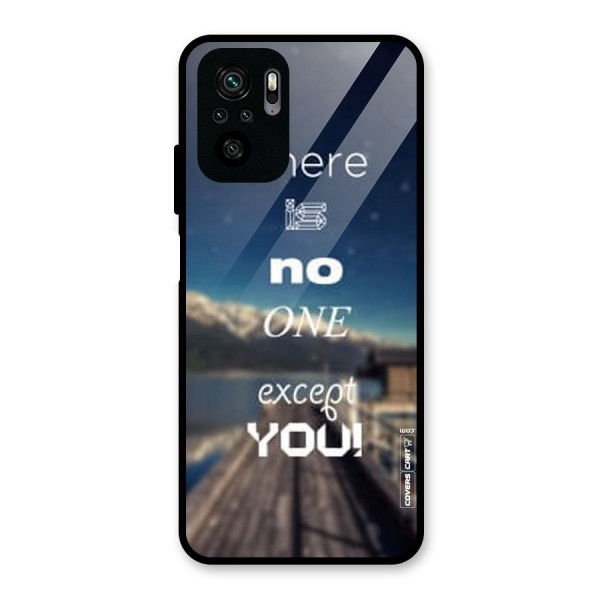 No One But You Glass Back Case for Redmi Note 10