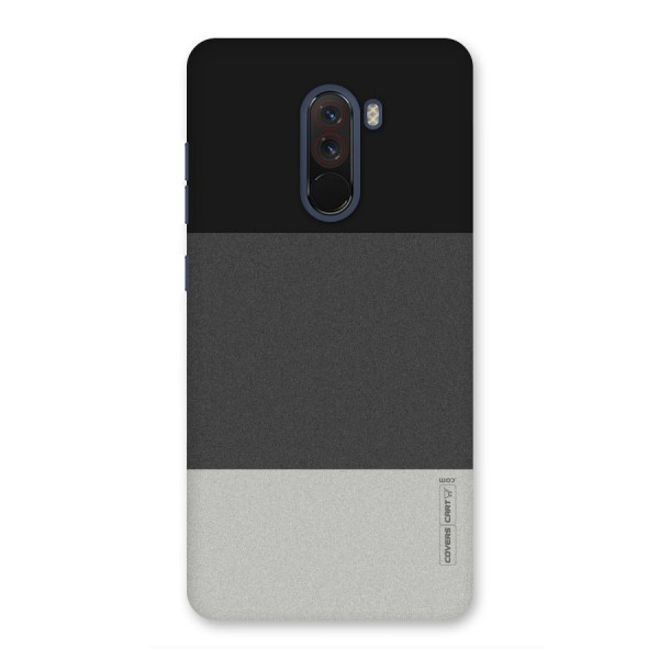 Pastel Black and Grey Back Case for Poco F1