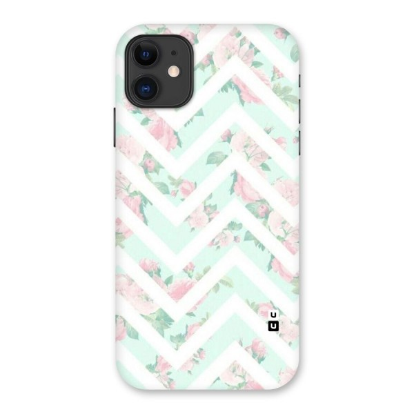 Pastel Floral Zig Zag Back Case for iPhone 11