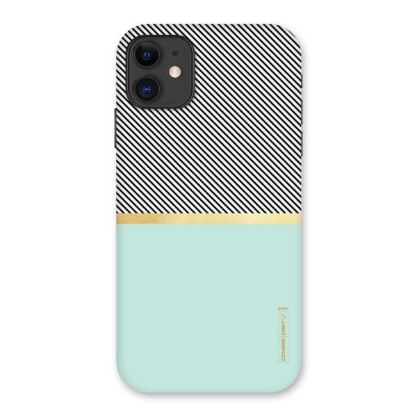 Pastel Green Base Stripes Back Case for iPhone 11