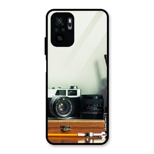 Photographer Desk Glass Back Case for Redmi Note 10