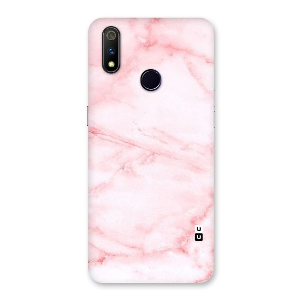 Pink Marble Print Back Case for Realme 3 Pro