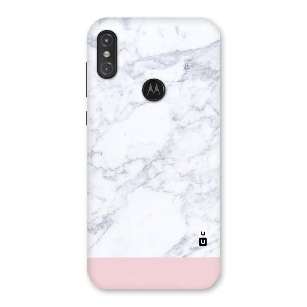 Pink White Merge Marble Back Case for Motorola One Power