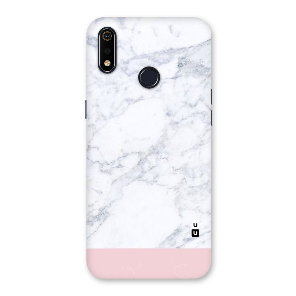 Pink White Merge Marble Back Case for Realme 3i