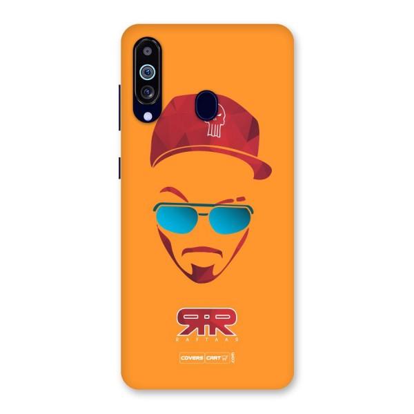 Raftaar Orange Back Case for Galaxy A60