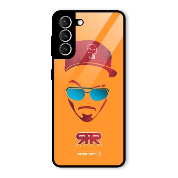 Raftaar Orange Glass Back Case for Galaxy S21 5G