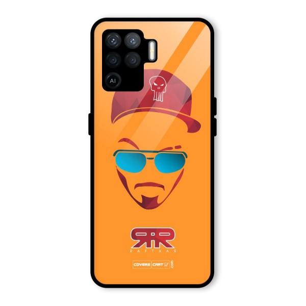 Raftaar Orange Glass Back Case for Oppo F19 Pro