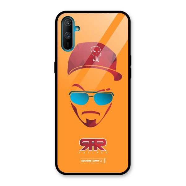 Raftaar Orange Glass Back Case for Realme C3
