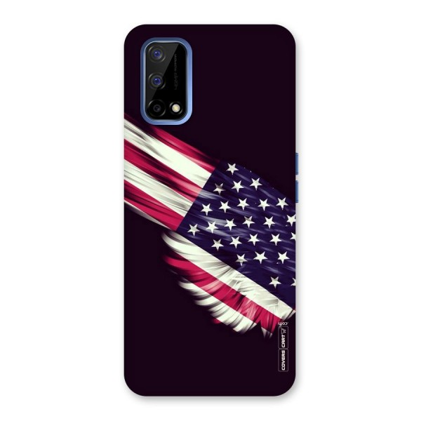 Red And White Stripes Stars Back Case for Realme Narzo 30 Pro