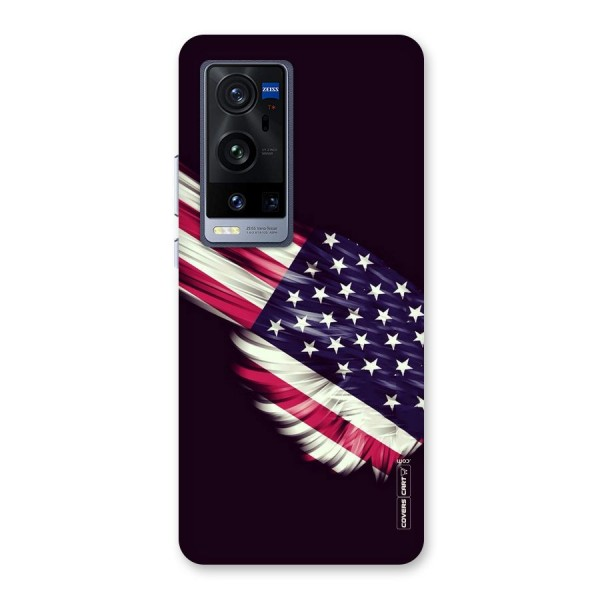 Red And White Stripes Stars Back Case for Vivo X60 Pro Plus