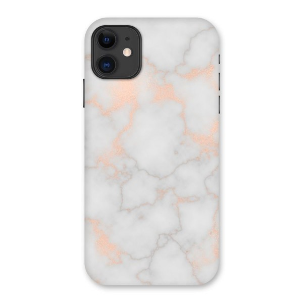RoseGold Marble Back Case for iPhone 11