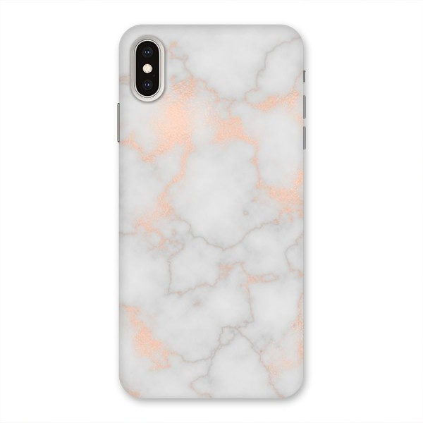 RoseGold Marble Back Case for iPhone XS Max
