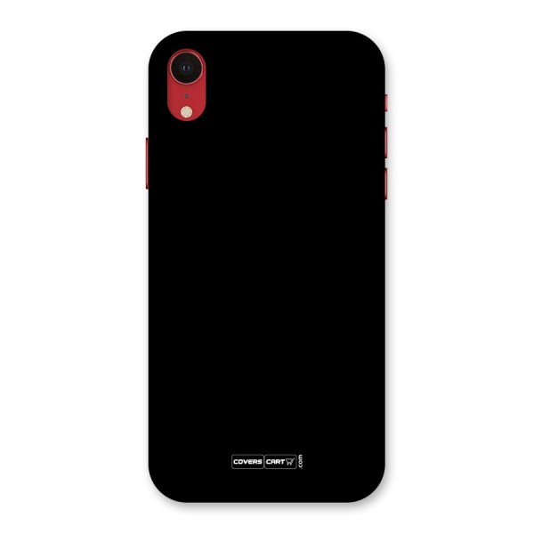 Simple Black Back Case for iPhone XR