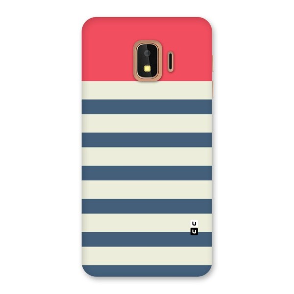 Solid Orange And Stripes Back Case for Galaxy J2 Core