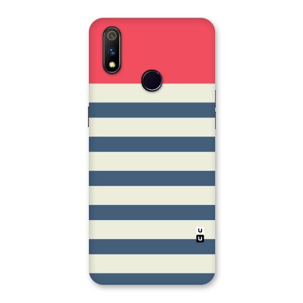 Solid Orange And Stripes Back Case for Realme 3 Pro