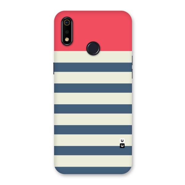 Solid Orange And Stripes Back Case for Realme 3i