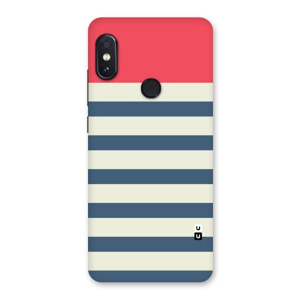 Solid Orange And Stripes Back Case for Redmi Note 5 Pro